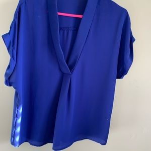 Beautiful bright blue blouse